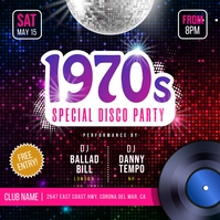 1970 Retro Dance Party Instagram Image Instagram-Beitrag template
