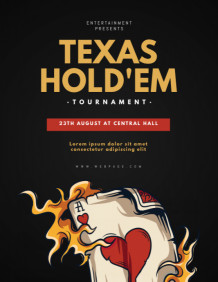 Copy of Texas Hold'em Poker Flyer template