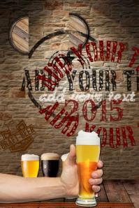 Beer Barrel Logo Oktoberfest Bar Pub Festival Lager Band Drink Special Ad