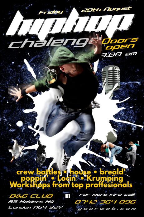Hip Hop Chalenge poster