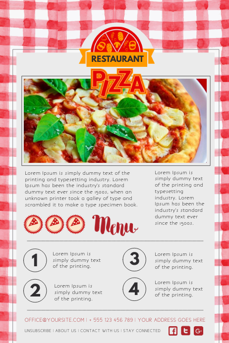 Restaurant Newsletter Design Template