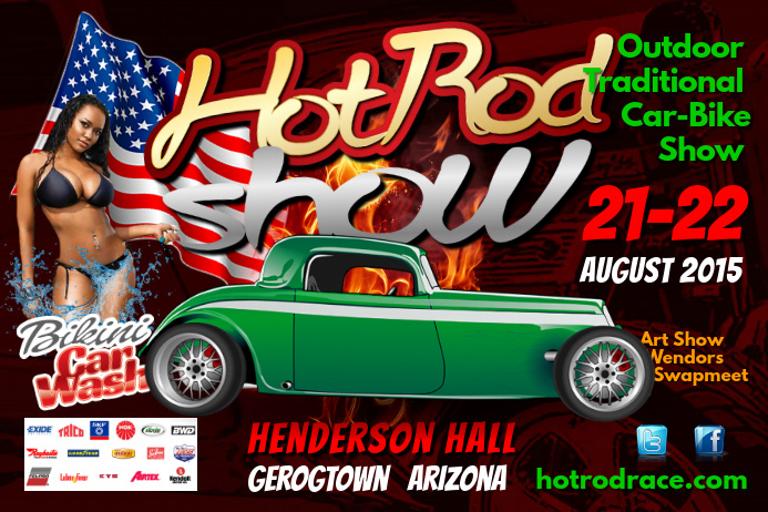 Hot Rod Show Flyer Template PosterMyWall - Car and bike show flyer template