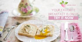 Breakfast Facebook Ad Template Facebook-Anzeige