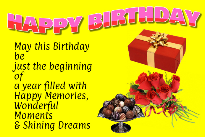 birthday wishes for a friend with message template postermywall