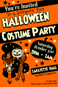2 halloween costume party flyer template