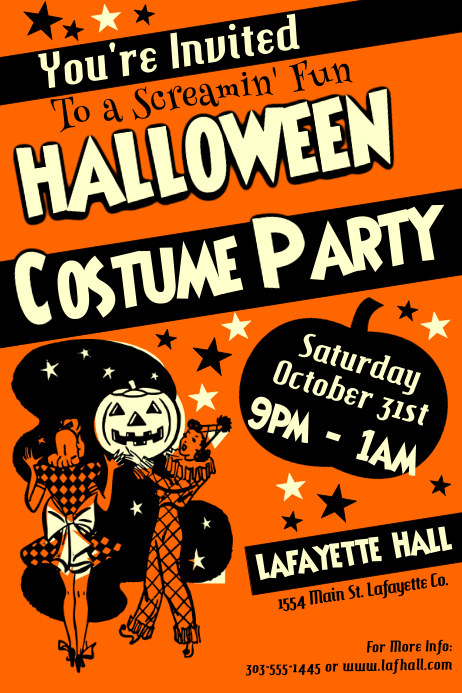 Costume Party Poster template