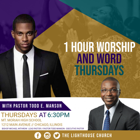 1hr Worship & Word