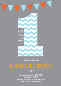 1st birthday party invitation