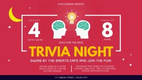 Pink Trivia Night Facebook Cover Video template