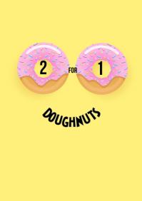 2 for 1 doughnut donut face