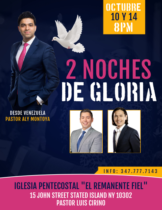 2 NOCHES DE GLORIA Flyer (Letter pang-US) template