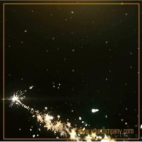 20% Off Sale Advert Video Glitter Explosion Shine Gold Shop