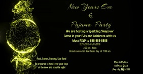 2018 New Years Eve Party Publicité Facebook template
