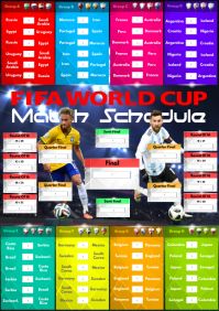 2018 World Cup Match Schedule A2 template