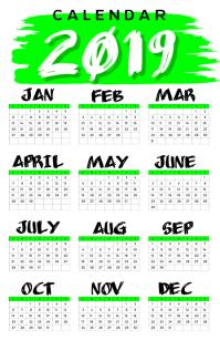 2019 Calendar Poster Template