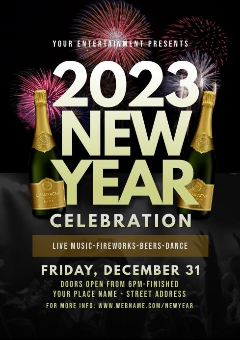 2019 New Year Celebration Flyer