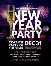 2019 New Year Party Flyer template