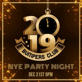 2019 new year party video template christmas opening hours poster template