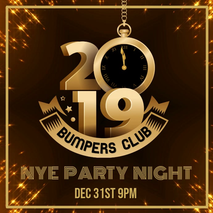 2019 New Year Party Video Template