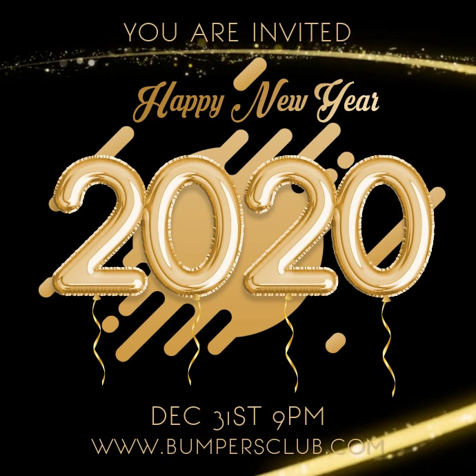 2019 New Years Party Night Video Template Instagram na Post