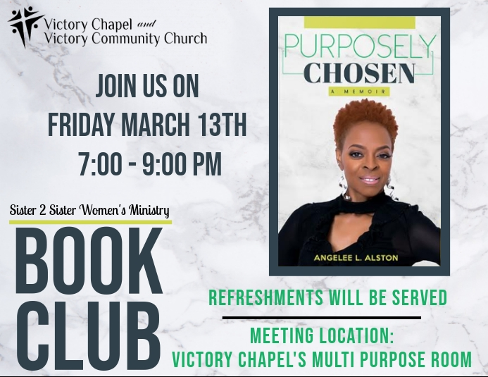 2020 Book Club Flyer template