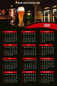 2020 Calendar Bar Restaurant Template