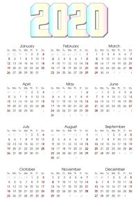 2020 Calendar Template