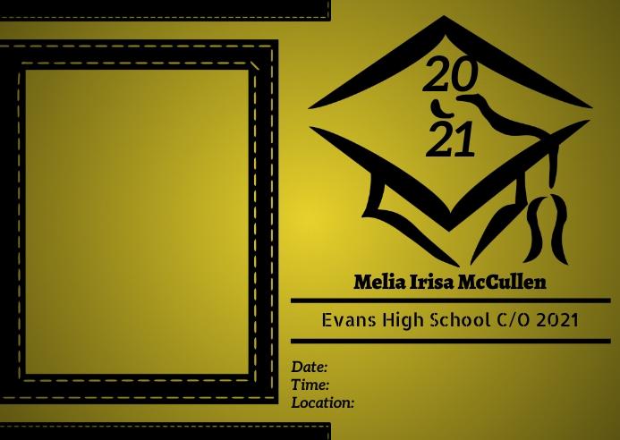 2021 Graduation 明信片 template