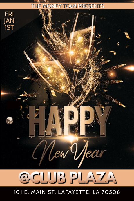 2020 HAPPY NEW YEAR CLUB FLYER TEMPLATE