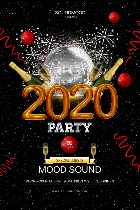 2020 new year s party poster template postermywall 2020 new year s party poster template