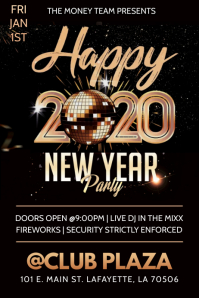 2020 NEW YEARS CLUB FLYER TEMPLATE