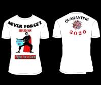 2020 Quarantine HEROS T-shirt DESIGN สามเหลี่ยมขนาดใหญ่ template