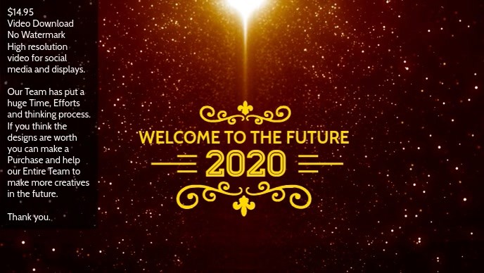 2020 welcome poster