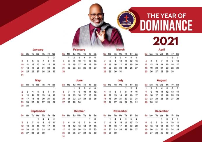 2021 Calendar A4 template