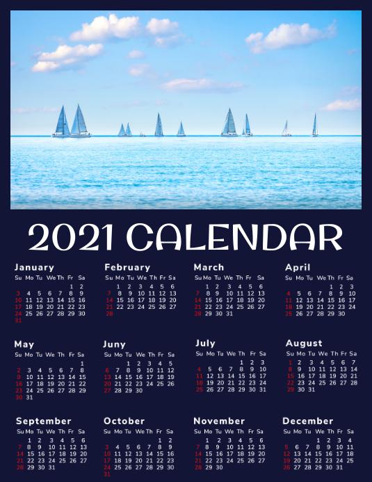2021 CALENDAR Flyer (Letter pang-US) template