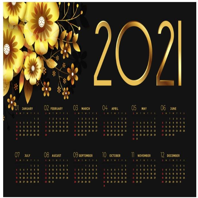 2021 calendar flyer/logo โพสต์บน Instagram template