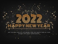 2021 Happy New Year Greeting Card animated Volante (Carta US) template