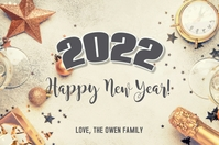2021 Happy New Years Card Label template