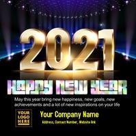 2021 New year greeting card