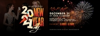 2021 New Year Party Facebook Cover Photo template