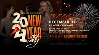 2021 New Year Party Twitter Post Iphosti le-Twitter template