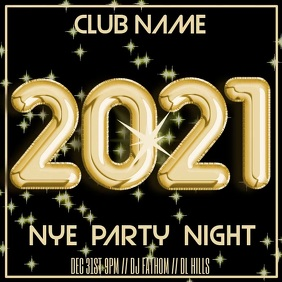 2021 New Years Eve Party Video Template Instagram Post