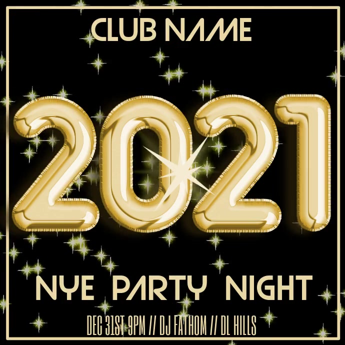 2021 New Years Eve Party Video Template | PosterMyWall