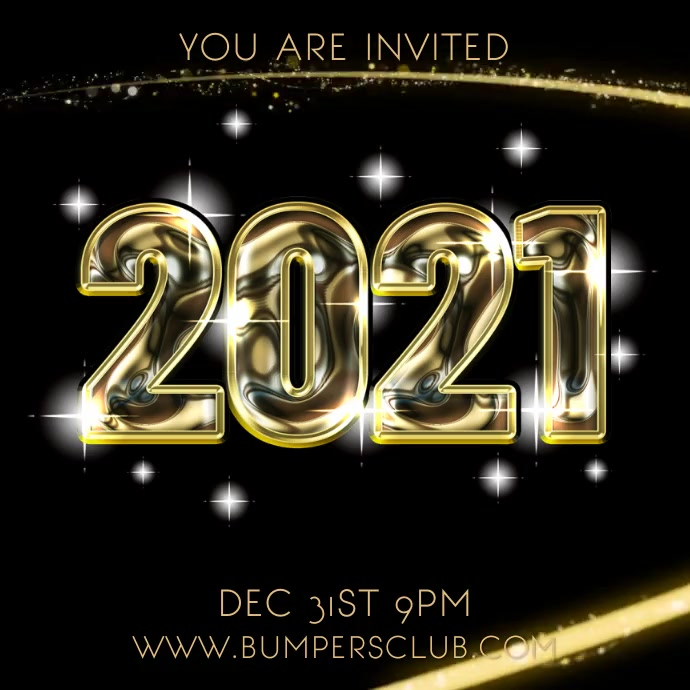 2021 New Years Party Night Video Template Postermywall