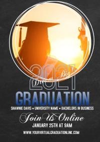 2021 Virtual Graduation Photo Video Card A4 template