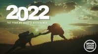2021 Welcome The Challenges Mountain Video Pantalla Digital (16:9) template