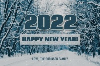 2022 Happy New Years Card Label template