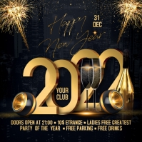2022 New Year Flyer Message Instagram template