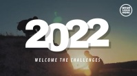 2028 Welcome The Challenges Mountain Video Pantalla Digital (16:9) template