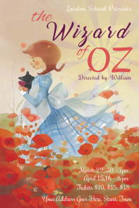 Wizard of Oz Dorothy Poster Template